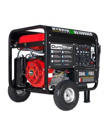 DuroStar DS10000EH 10,000-Watt 18-Hp Dual Fuel Hybrid Generator w/ Electric Start