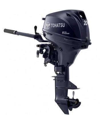 "2020 Tohatsu 20 HP MFS20EEFTS Outboard Motor 15"" Shaft Length"