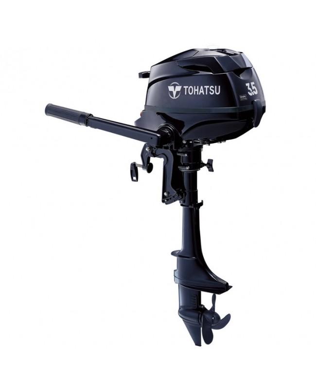 "2019 Tohatsu 3.5 HP MFS3.5BS Outboard Motor 15"" Short"